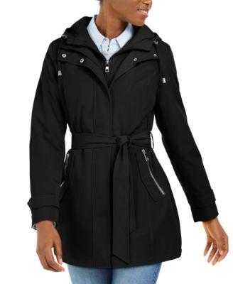 Nautica Womens 3//4 Hooded Peacoat