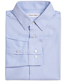 Big Boys Stretch Textured Dot Dress Shirt