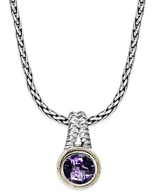 Balissima by EFFY® Amethyst Round Pendant (3-3/8 ct. t.w.) in 18k Gold and Sterling Silver
