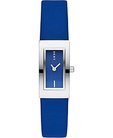 Women's Downtown Blue Polyurethane Strap Watch 16x22mm