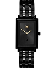 Women's Caviar Black Stainless Steel Bracelet Watch 24mm