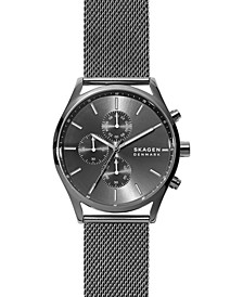 Men's Chronograph Holst Gunmetal Stainless Steel Mesh Bracelet Watch 42mm