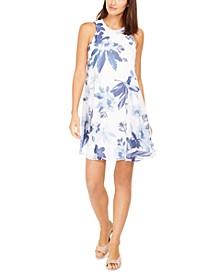 Floral-Print Trapeze Dress