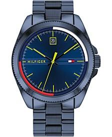 Men's Blue Stainless Steel Bracelet Watch 44mm