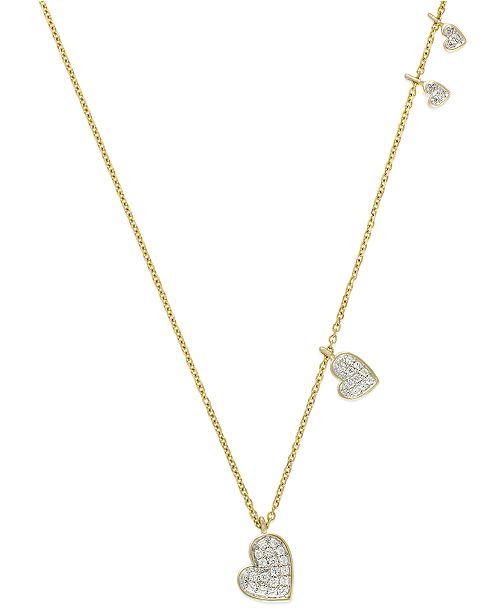Macy's Diamond Heart Pendant Necklace in (1/4 ct. t.w.)