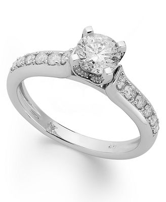 Diamond Engagement Ring in 14k White Gold or 14k Gold (1 ct. t.w.)