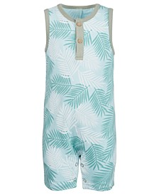 Baby Boys Tropical-Print Cotton Sunsuit, Created for Macy's