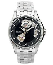 Watch, Men's Swiss Automatic Jazzmaster Open Heart Stainless Steel Bracelet 40mm H32565135