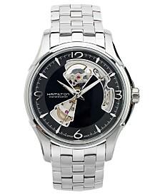 Hamilton Watch, Men's Swiss Automatic Jazzmaster Open Heart Stainless Steel Bracelet 40mm H32565135