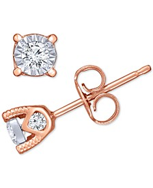 Diamond Stud Earrings (3/8 ct. t.w.) in 14k White, Yellow, or Rose Gold