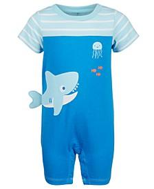 Baby Boys Shark Cotton Sunsuit, Created for Macy's