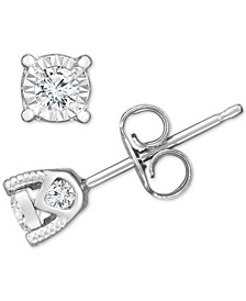 Diamond Stud Earrings (3/8 ct. t.w.) in 14k White Gold, Rose Gold, or Yellow Gold