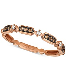 Chocolatier® Diamond Band (1/10 ct. t.w.) in 14k Rose Gold