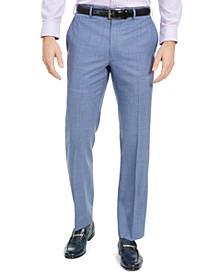 Men's Classic-Fit UltraFlex Stretch Total Comfort Mini-Check Dress Pants