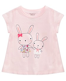 Baby Girls Embroidered Cotton Bunny Sisters T-Shirt, Created for Macy's