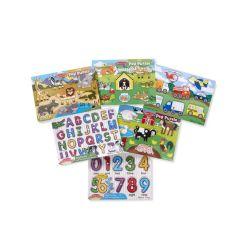 Melissa Doug Peg Puzzle Set 6 Puzzles - Ages 2+