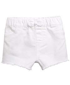 Baby Girls Eyelet-Bow Denim Shorts, Created for Macy's
