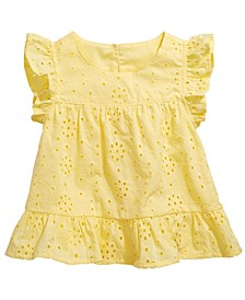Baby Girls Eyelet Cotton Top, Created for Macy's