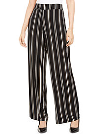 Alfani Petite Striped Pull-On Pants, Created for Macy's