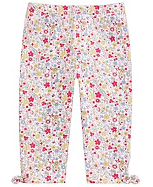 Toddler Girls Floral-Print Keyhole Capri Pants, Created For Macy's