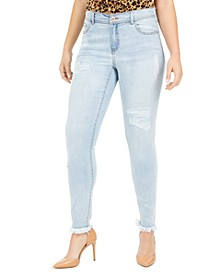INC Curvy Rip & Repair Skinny Jeans, Created for Macy's