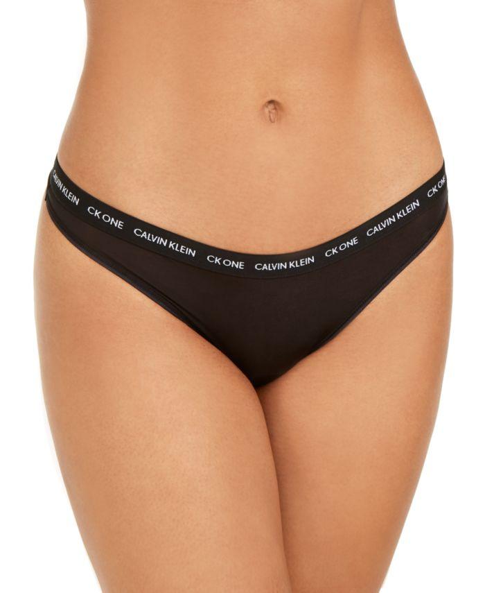 Calvin Klein CK One Micro Singles Thong Underwear QD3790 & Reviews - Bras, Panties & Lingerie - Women - Macy's