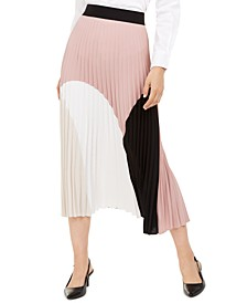 Pleated Colorblocked Skirt, Created for Macy's