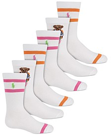 3-Pk Madras Bear Socks