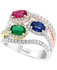 EFFY® Multi-Gemstone (1-1/2 ct. t.w.) & Diamond (1 ct. t.w.) in 14k Gold, White Gold & Rose Gold