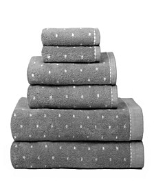 American Dawn Raine Dot Pattern 6 Piece Bath Towel Set