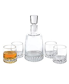 Park Avenue European Mouth Blown Lead Free Crystal Park Avenue 5 Pieces Whiskey Set