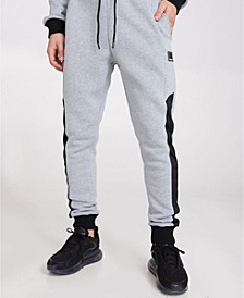 Cuffed Joggers with Contrast Panels