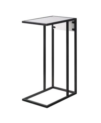 Adorna Modern End C-Table with Storage Drawer USB Charging Ports and Outlets