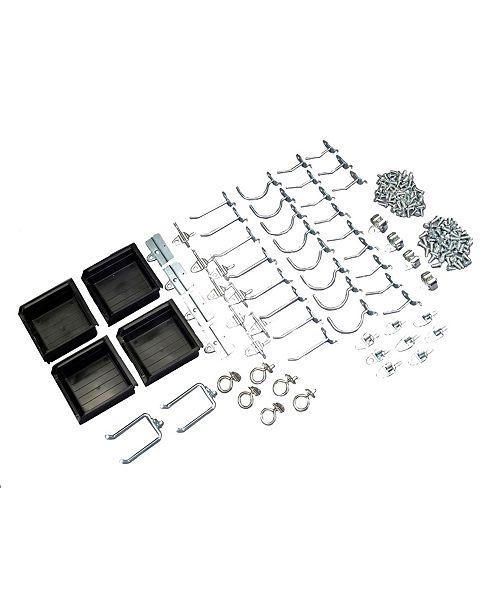 Triton Products DuraHook 64 Piece Hook Bin Assortment for Duraboard or Pegboard 60 Asst Hooks 4 Bins