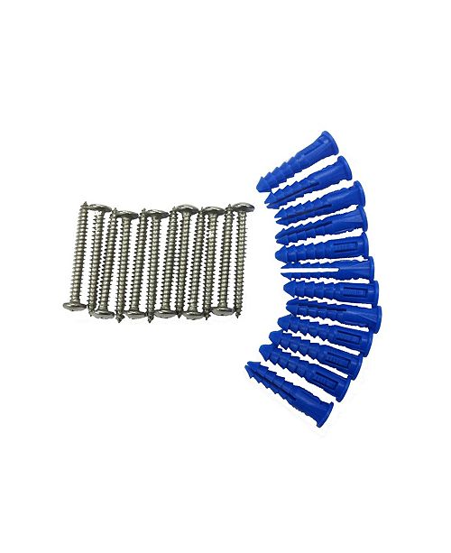 Triton Products Locboard 12 Steel Screws 12 Plastic Wall Anchors for Mounting Steel Pegboard System
