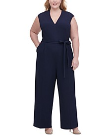Plus Size Core Scuba Crepe Jumpsuit