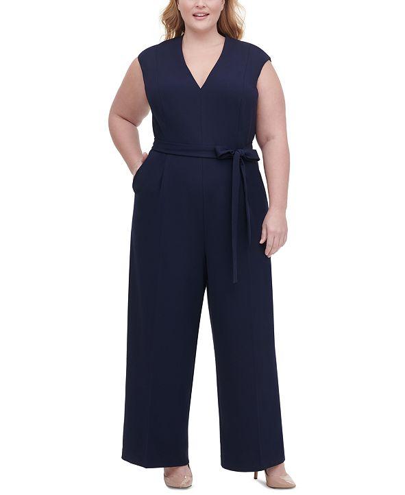 Tommy Hilfiger Plus Size Core Scuba Crepe Jumpsuit