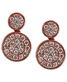 Pave Rose by EFFY Diamond Double Round Earrings (3/4 ct. t.w.) in 14k Rose Gold