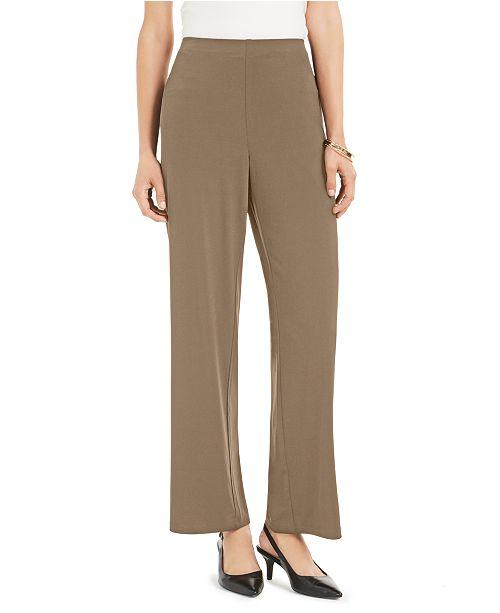 Alfani Straight-Leg Trousers, Created for Macy's