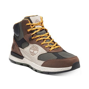 Timberland Men Field Trekker Fabric and Leather Mid Hikers