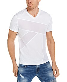 INC Men's Full Mesh Pierced Front Volumes T-Shirt, Created for Macy's