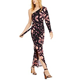 INC Printed One-Shoulder Maxi Dress, Created For Macy's