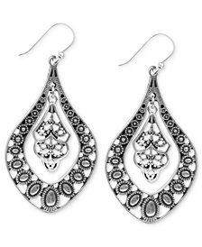 Lucky Brand Earrings, Filigree Oblong Earrings