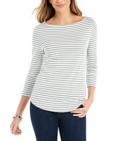 Petite Cotton Striped Top, Created for Macy's
