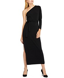 INC Petite One-Shoulder Belted Maxi Dress, Created for Macy's