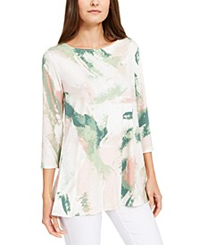 Printed Mesh Tunic, Created for Macy's