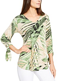 Printed Tie-Cuff Top, Created for Macy's