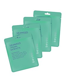 Seaweed with Pearl Extracts Sheet Mask, Set of 4
