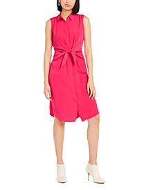 Sleeveless Tie-Front Shirtdress, Created For Macy's