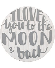 "NoJo ""I Love You to the Moon and Back"" Wood Nursery Wall Décor"